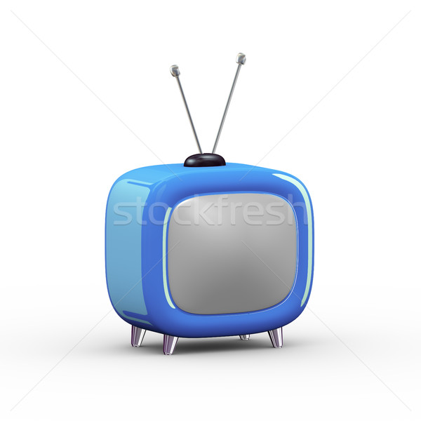 3d cartoon style tv illustration Stock photo © nasirkhan