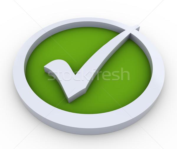 3D チェック マーク シンボル 3dのレンダリング 白 ストックフォト © nasirkhan