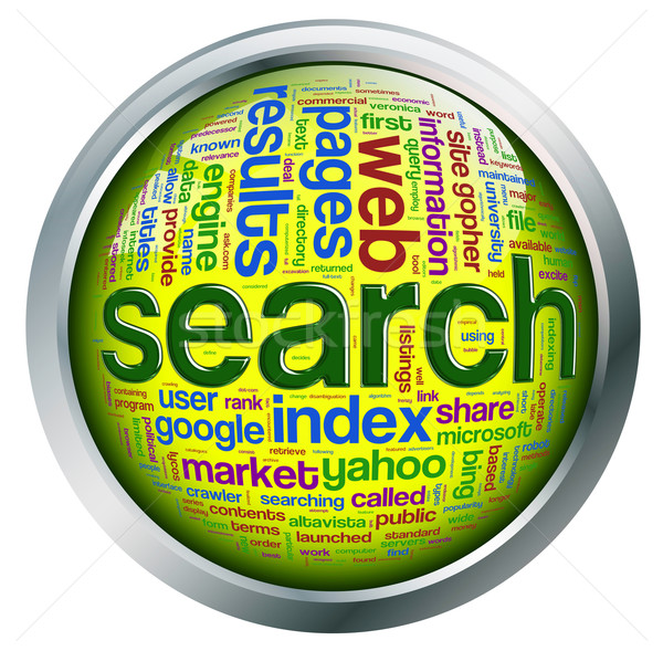 Search wordcloud button Stock photo © nasirkhan