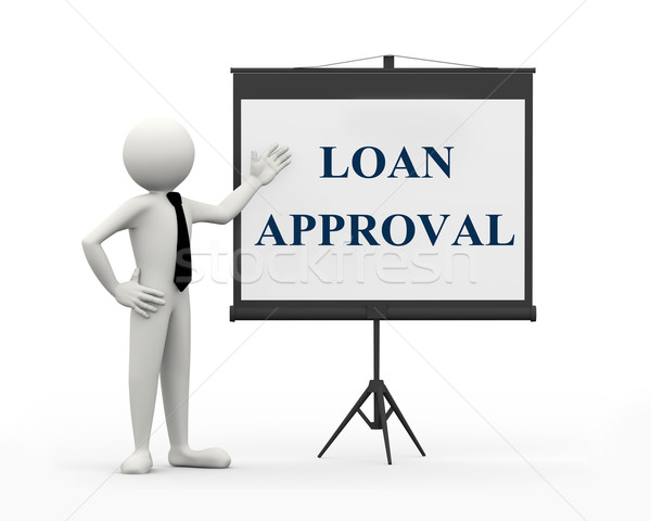 3d businessman - loan approval Stock photo © nasirkhan