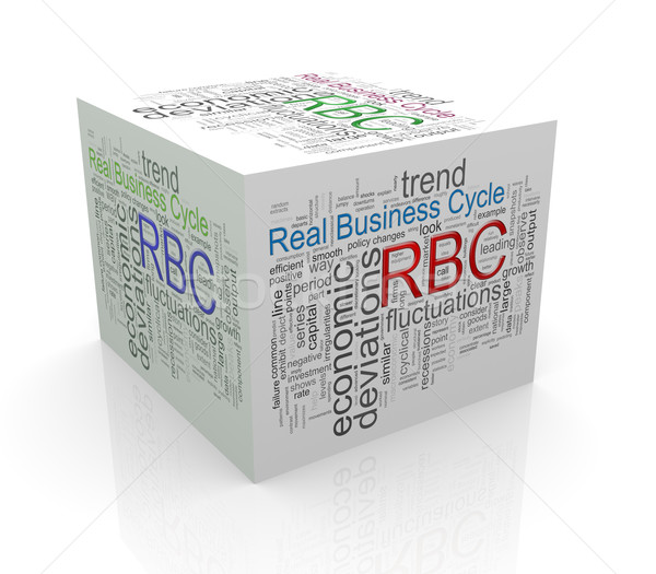 3d cube word tags wordcloud of rbc - real business cycle Stock photo © nasirkhan