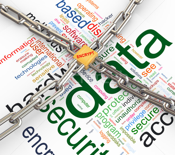 Concept of data security Stock photo © nasirkhan