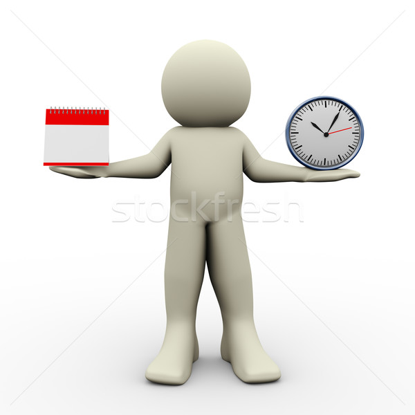 Person with calender and clock Stock photo © nasirkhan