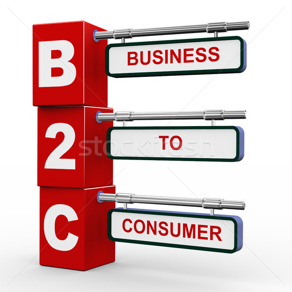 3d modern signboard of b2c Stock photo © nasirkhan