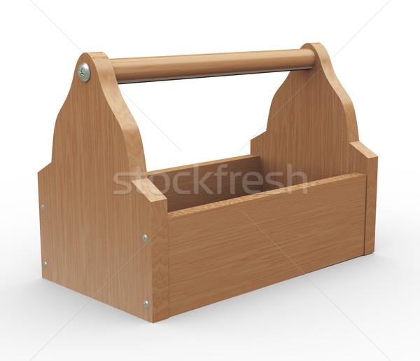3d empty toolbox Stock photo © nasirkhan