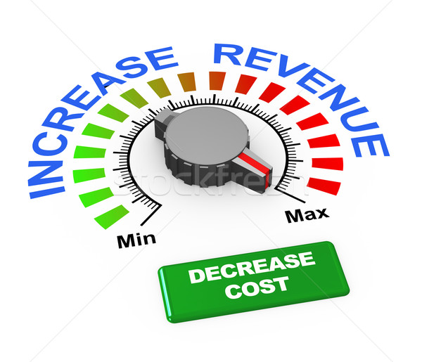 3d knob - increase revenue decrease cost Stock photo © nasirkhan