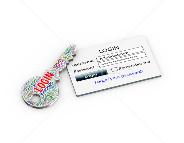 3d key phishing scam concept Stock photo © nasirkhan
