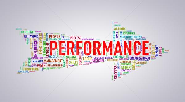 Arrow shape wordtag wordcloud performance Stock photo © nasirkhan