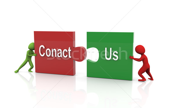 3d text 'contact us' Stock photo © nasirkhan