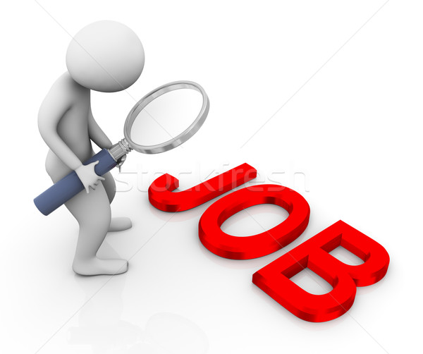 3d man searching job Stock photo © nasirkhan
