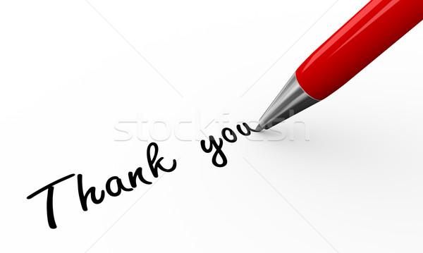 3d pen writing thank you Stock photo © nasirkhan