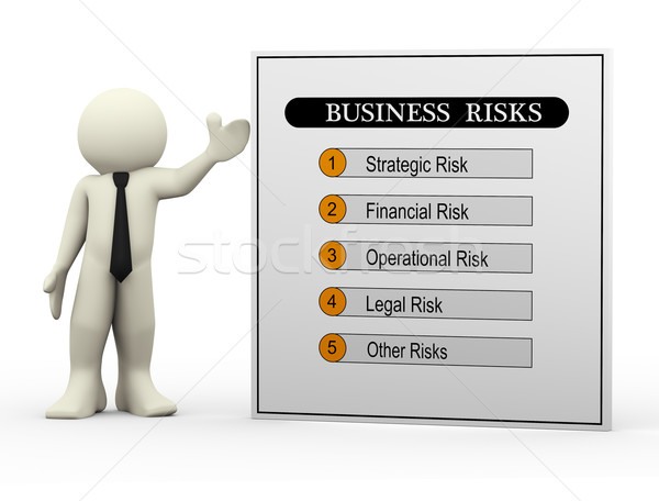 3d businessman and business risks Stock photo © nasirkhan