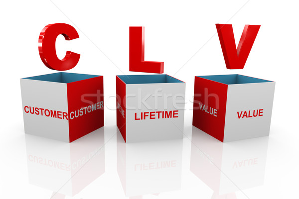 3d box of clv - customer lifetime valuez` Stock photo © nasirkhan