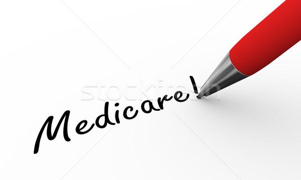 3d pen writing medicare illustration Stock photo © nasirkhan