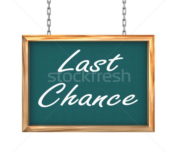3d hanging banner - last chance Stock photo © nasirkhan