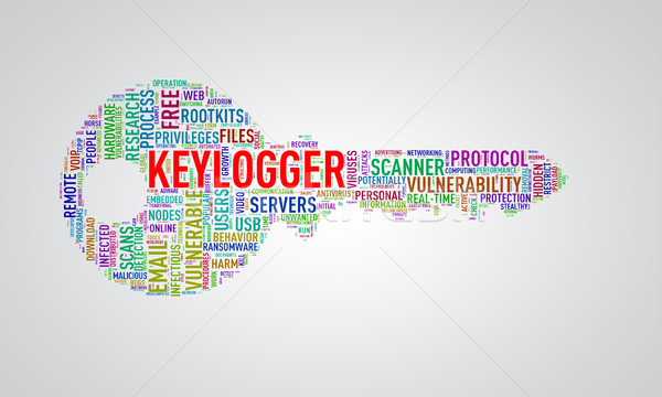 Key shape wordcloud tag keylogger Stock photo © nasirkhan