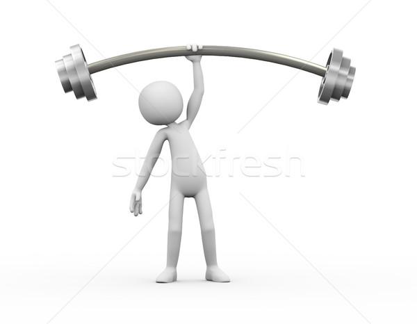 3d человек тяжелая атлетика 3D спортсмена человека Сток-фото © nasirkhan