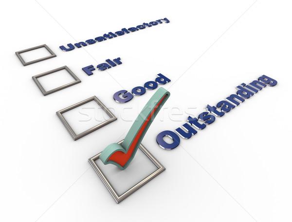 3D controleren lijst vragenlijst 3d render overzicht Stockfoto © nasirkhan