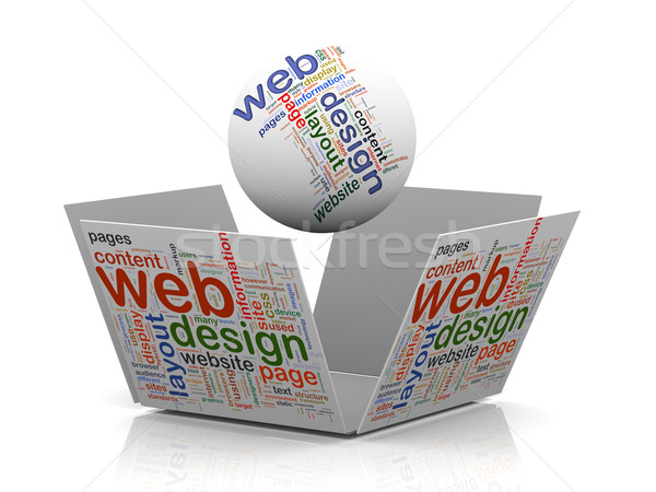3d web design wordcloud tags Stock photo © nasirkhan