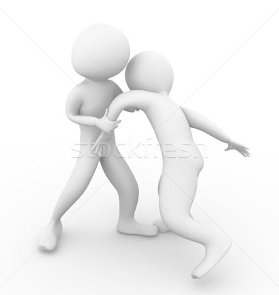 3d men fighting Stock photo © nasirkhan