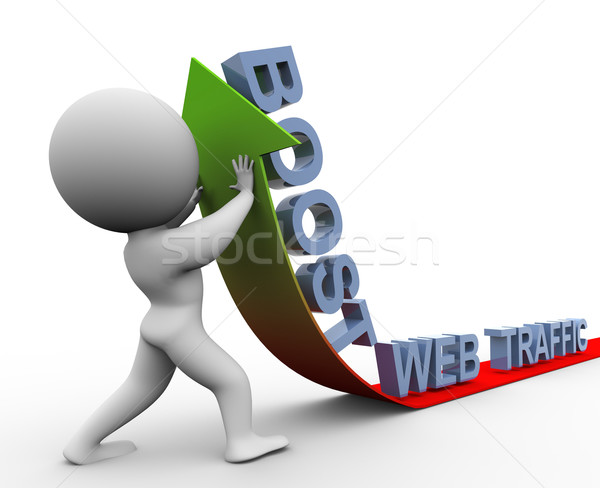 3d web traffic boost Stock photo © nasirkhan