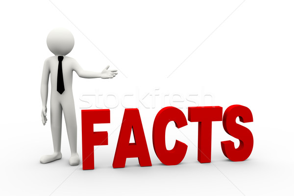 3D empresário palavra fatos empresário Foto stock © nasirkhan