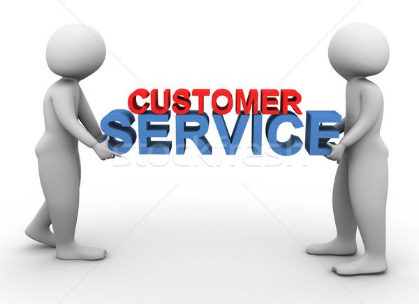 3d men holding customer service Stock photo © nasirkhan