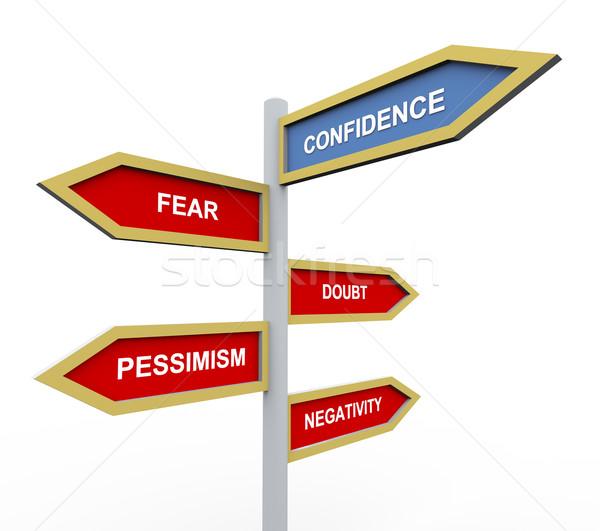 Confidence Stock photo © nasirkhan