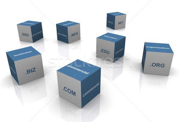 3d domain extension textboxes Stock photo © nasirkhan