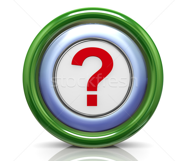 3d icon - question mark Stock photo © nasirkhan