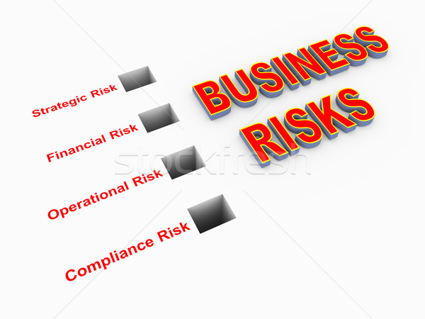 Illustration of classification of business risks Stock photo © nasirkhan
