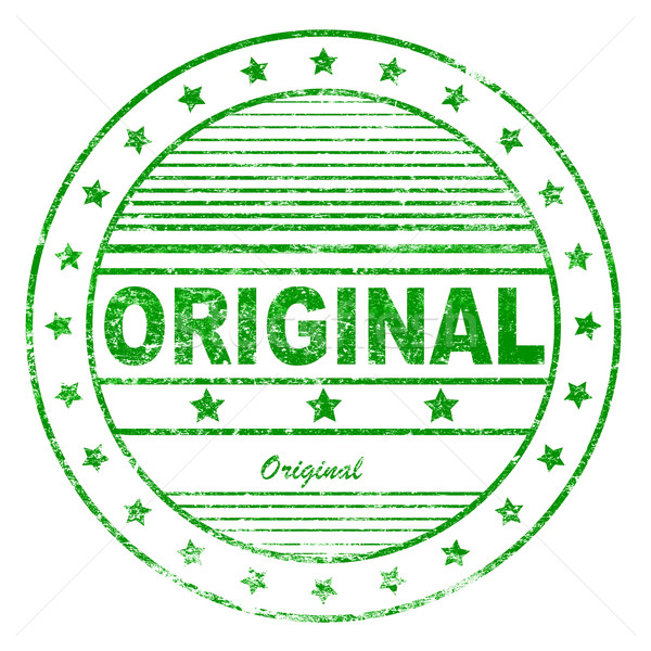 Green grunge original rubber stamp Stock photo © nasirkhan
