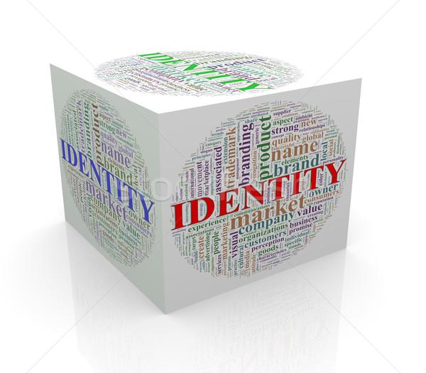 Сток-фото: 3D · куб · слово · личности