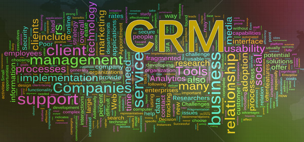 Wordcloud of CRM - Customer relationship management Stock photo © nasirkhan