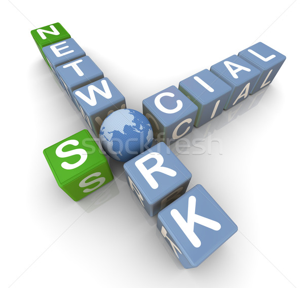 Social network crossword Stock photo © nasirkhan