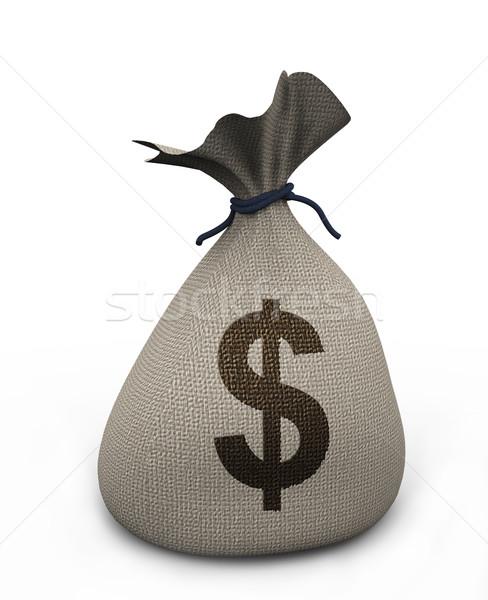 3D geld zak 3d render dollar business Stockfoto © nasirkhan