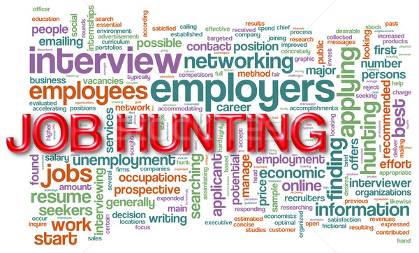 Wordcloud of job hunting Stock photo © nasirkhan