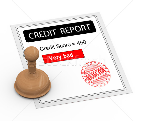 3d bad credit score report Stock photo © nasirkhan