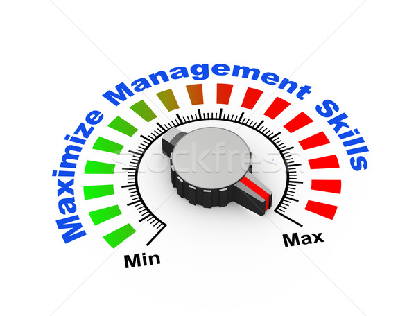 3d knob - maximize management skills Stock photo © nasirkhan
