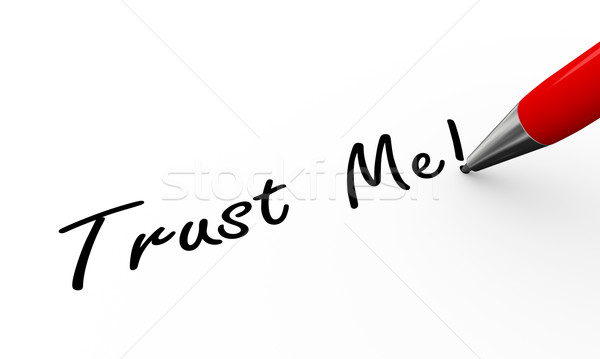 3d pen writing trust me Stock photo © nasirkhan