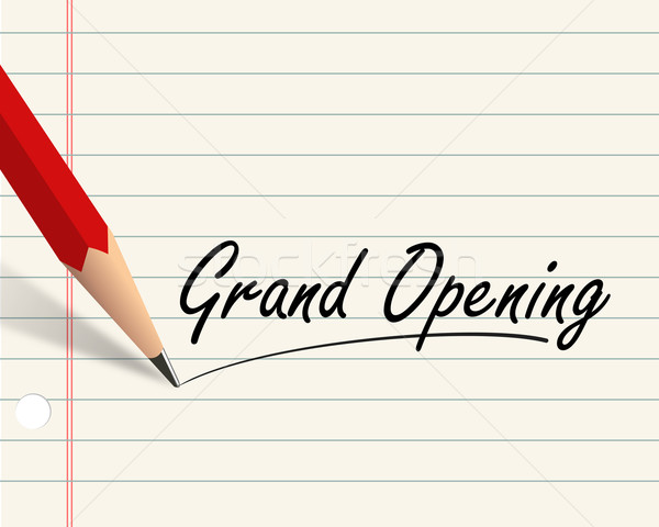 Pencil paper - grand opening Stock photo © nasirkhan