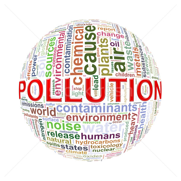 Word tags wordcloud ball of pollution  Stock photo © nasirkhan