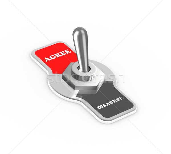 3d agree disagree toggle switch button Stock photo © nasirkhan