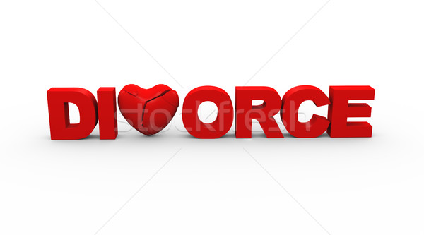 3d word text divorce Stock photo © nasirkhan