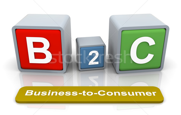 3d buzzword b2c Stock photo © nasirkhan