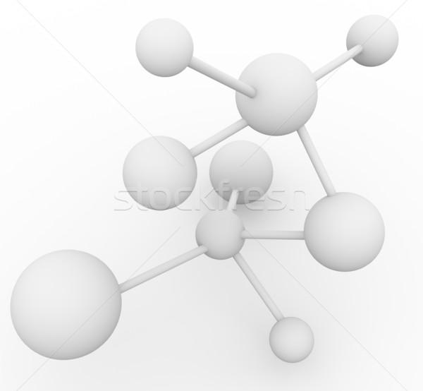 3d molecule Stock photo © nasirkhan