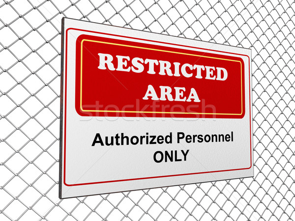 Restricted area notice Stock photo © nasirkhan