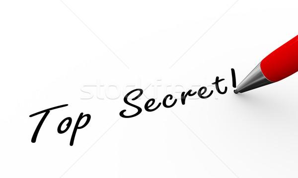 Foto stock: 3D · caneta · escrita · topo · segredo · ilustração