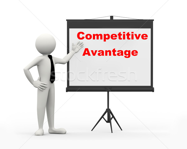 3d businessman - competitive advantage Stock photo © nasirkhan