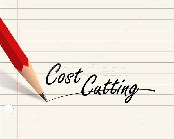 Lápiz papel costo ilustración escrito Foto stock © nasirkhan